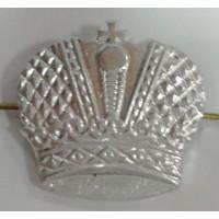 Эмблема петличная Казачья серебро металл