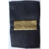 Фальшпогоны старшего сержанта серые МВД  вышитые золотой нитью