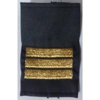 Фальшпогоны сержанта серые МВД  вышитые золотой нитью