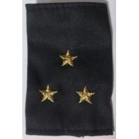 Фальшпогоны старшего лейтенанта однотонные серые МВД  вышитые золотой нитью