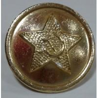 Пуговица большая металл золотая со звездой