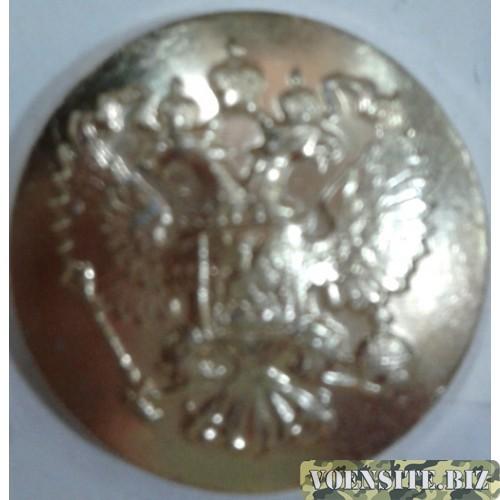 Пуговица большая металл золото без ободка
