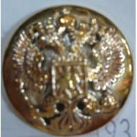 Пуговица большая полиамид золото без ободка