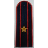Погоны Полиции с вышитыми золотом звездами майор пластик