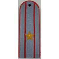 Погоны Полиции рубашка с вышитыми золотом звездами майор