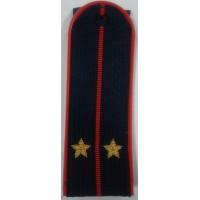Погоны Полиции с вышитыми золотом звездами лейтенант