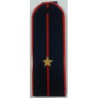Погоны Полиции с вышитыми золотом звездами младший лейтенант пластик