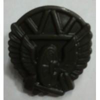 Эмблема петличная Дорожные войска с венком защита полиамид