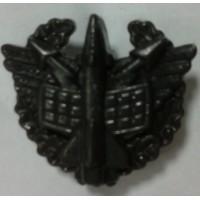 Эмблема петличная ПВО с венком защита полиамид