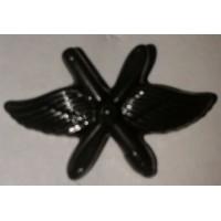 Эмблема петличная ВВС с пушкой защита полиамид