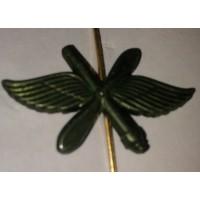 Эмблема петличная ВВС с пушкой защита металл