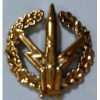 Эмблема петличная РВСН с венком золото полиамид