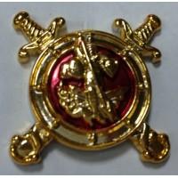Эмблема петличная Полиции золото полиамид с эмалью