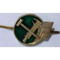 Эмблема петличная РЖД золото метал