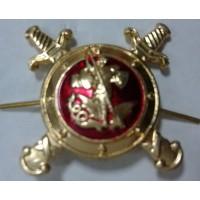 Эмблема петличная Полиции золото металл с эмалью