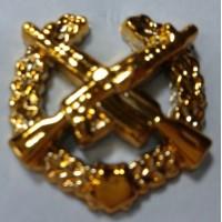 Эмблема петличная мотострелковые войска с венком золото полиамид