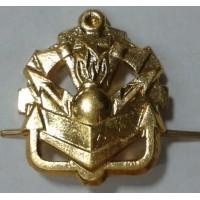 Эмблема петличная инженерные войска без венка золото металл