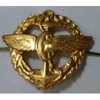 Эмблема петличная служба военных сообщений с венком золото металл