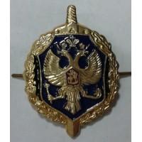 Эмблема петличная ФСБ золото металл