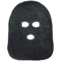 Маска черного цвета с 3-мя разрезами для глаз и рта