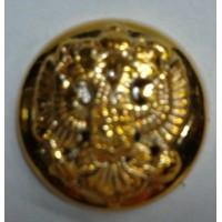 Пуговица малая полиамид золото без ободка