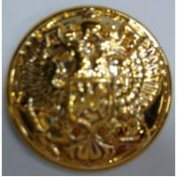 Пуговица малая полиамид золото с ободком