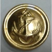 Пуговица большая металл золото с якорем