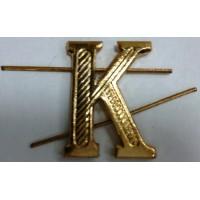 Буква К золото металл