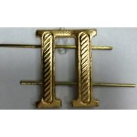 Буква П золото металл