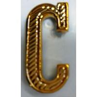 Буква С золото полиамид