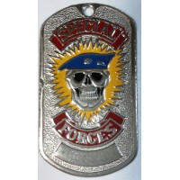 Жетон Special Forces (череп голубой берет)