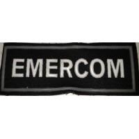 Полоса EMERCOM черная простая