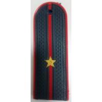 Погоны МВД с вышитыми золотом звездами младший лейтенант пластик