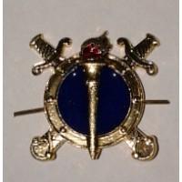 Эмблема петличная юстиции с эмалью золото металл