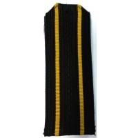 Погоны ВМФ старшего офицерского состава с желтыми просветами