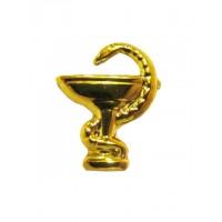 Эмблема петличная Медицинская служба без венка золото полиамид, правая, левая