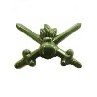 Эмблема петличная сухопутные войска без венка защита полиамид