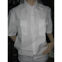 Рубашка белого цвета короткий рукав р.48-50