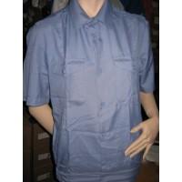 Рубашка сероголубая короткий рукав р.36-44