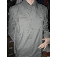 Рубашка оливкового цвета длинный рукав до р.44