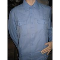 Рубашка голубого цвета длинный рукав р.37-44