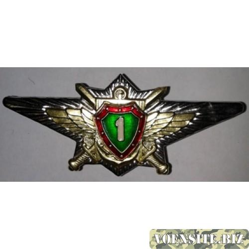 Знак классности офицера 1 степени зеленый