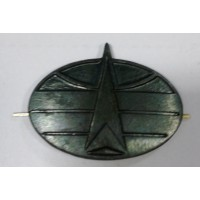 Эмблема петличная Космические войска без венка защита металл