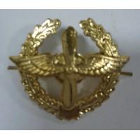 Эмблема петличная ВВС с венком золото металл