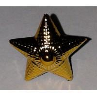 Звезда 20 мм полиамид золото рифленая