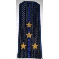 Погоны ФСБ с вышитыми золотом звездами капитан