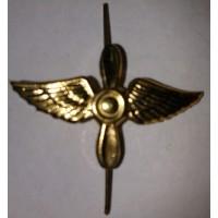 Эмблема петличная ВВС без венка золото металл
