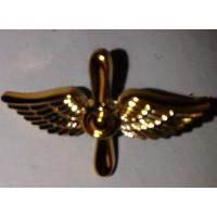Эмблема петличная ВВС без венка золото полиамид