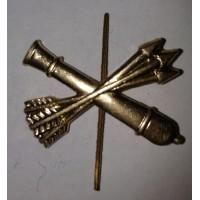Эмблема петличная ПВО без венка золото металл