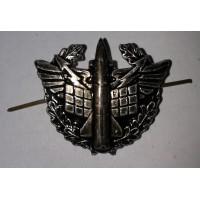 Эмблема петличная ПВО с венком защита металл
